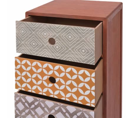 vidaXL Side Cabinet 5 Drawers Brown[5/6]