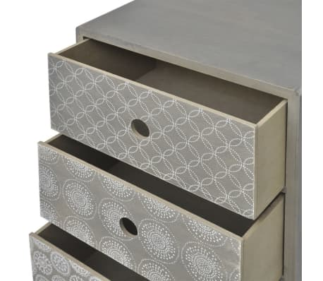 vidaXL Side Cabinet 5 Drawers Gray[5/6]