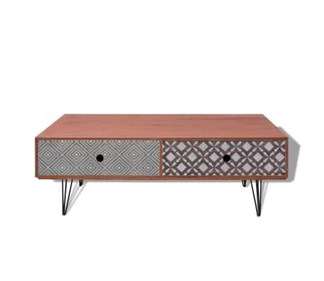 acheter vidaxl table basse 100 x 60 x 35 cm marron pas. Black Bedroom Furniture Sets. Home Design Ideas