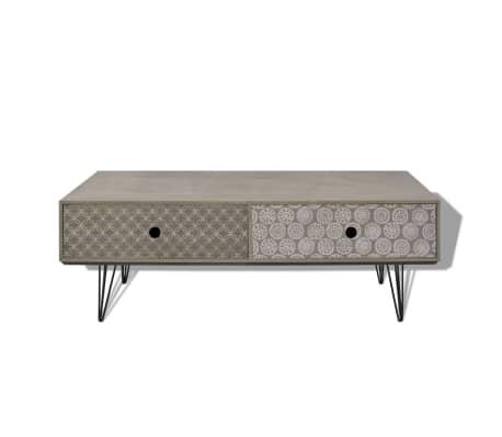vidaXL Coffee Table 100x60x35cm Drawer Side End Living Room Multi Colours