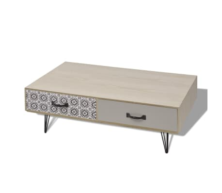 "vidaXL Coffee Table 39.4""x23.6""x13.8"" Beige"