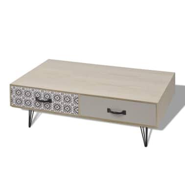 vidaxl table basse 100 x 60 x 35 cm beige. Black Bedroom Furniture Sets. Home Design Ideas