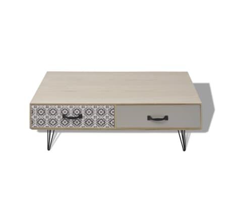 "vidaXL Coffee Table 39.4""x23.6""x13.8"" Beige[3/5]"