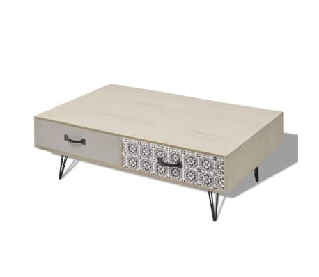 "vidaXL Coffee Table 39.4""x23.6""x13.8"" Beige[4/5]"