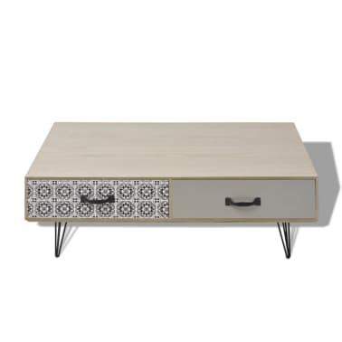 acheter vidaxl table basse 100 x 60 x 35 cm beige pas cher. Black Bedroom Furniture Sets. Home Design Ideas