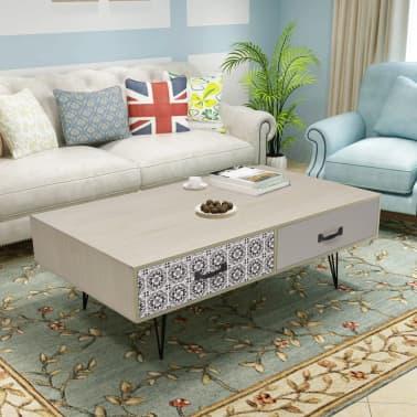 "vidaXL Coffee Table 39.4""x23.6""x13.8"" Beige[1/5]"