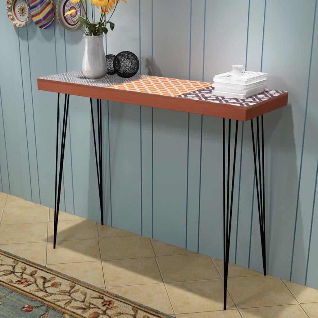 vidaXL Konzolový stolek 90x30x71,5 cm, hnědý