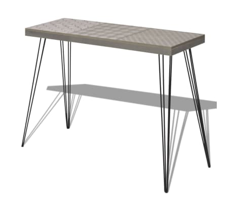 vidaXL Table console 90 x 30 x 71,5 cm Gris-picture