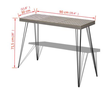 """vidaXL Console Table 35.4""""x11.8""""x28"""" Gray[7/7]"""