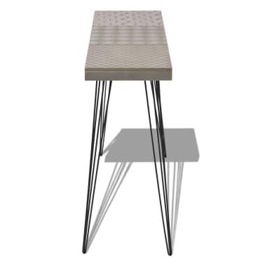 vidaXL Konsolinis staliukas, 90x30x71,5 cm, pilkas[4/7]