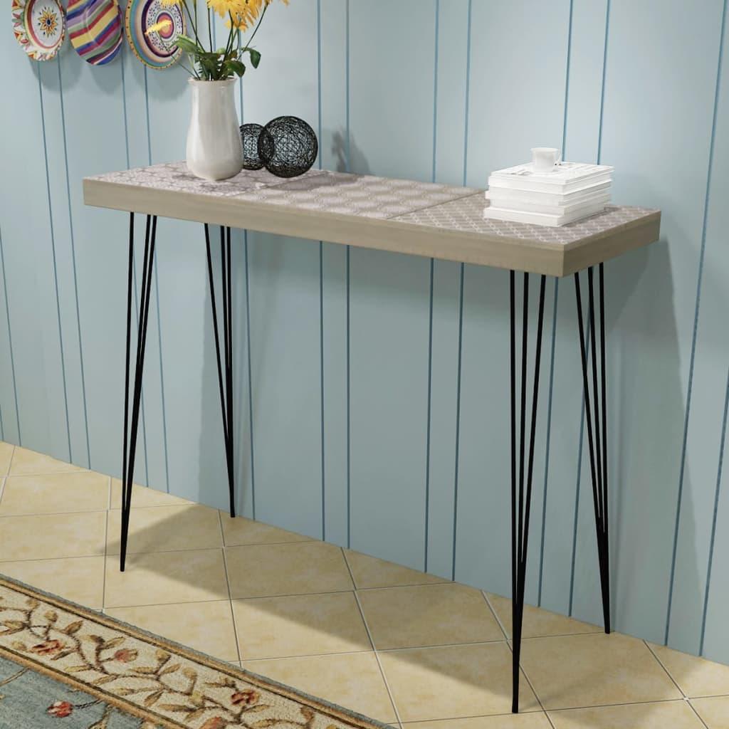 vidaXL Konzolový stolek 90x30x71,5 cm, šedý