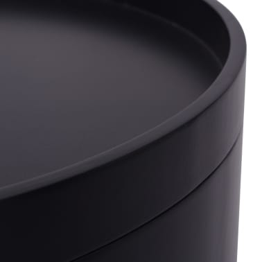 "vidaXL Side Table with Serving Tray Round 15.6""x17.5"" Black[5/6]"