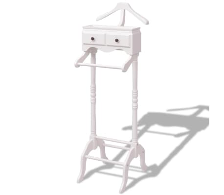 vidaXL Clothing Rack with Cabinet Wood White