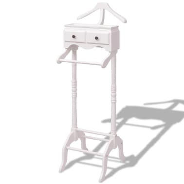 vidaXL Clothing Rack with Cabinet Wood White[1/6]