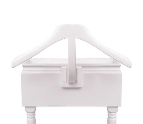 acheter vidaxl portant v tements avec armoire bois blanc pas cher. Black Bedroom Furniture Sets. Home Design Ideas