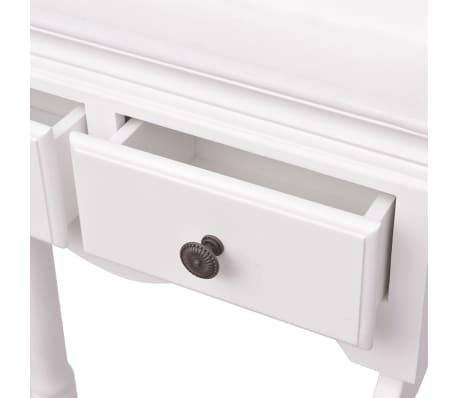 vidaXL Clothing Rack with Cabinet Wood White[5/6]