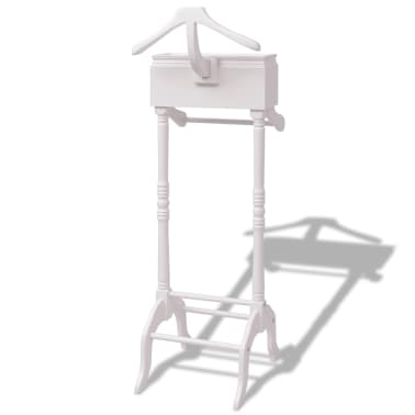 vidaXL Clothing Rack with Cabinet Wood White[2/6]