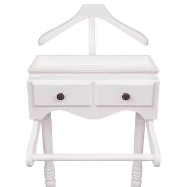 vidaXL Clothing Rack with Cabinet Wood White[3/6]