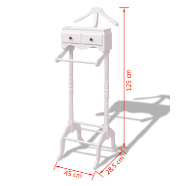 vidaXL Clothing Rack with Cabinet Wood White[6/6]