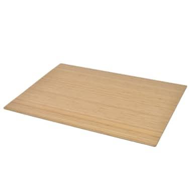 acheter vidaxl tapis prot ge sol chaise bambou naturel 110 x 130 cm pas cher. Black Bedroom Furniture Sets. Home Design Ideas
