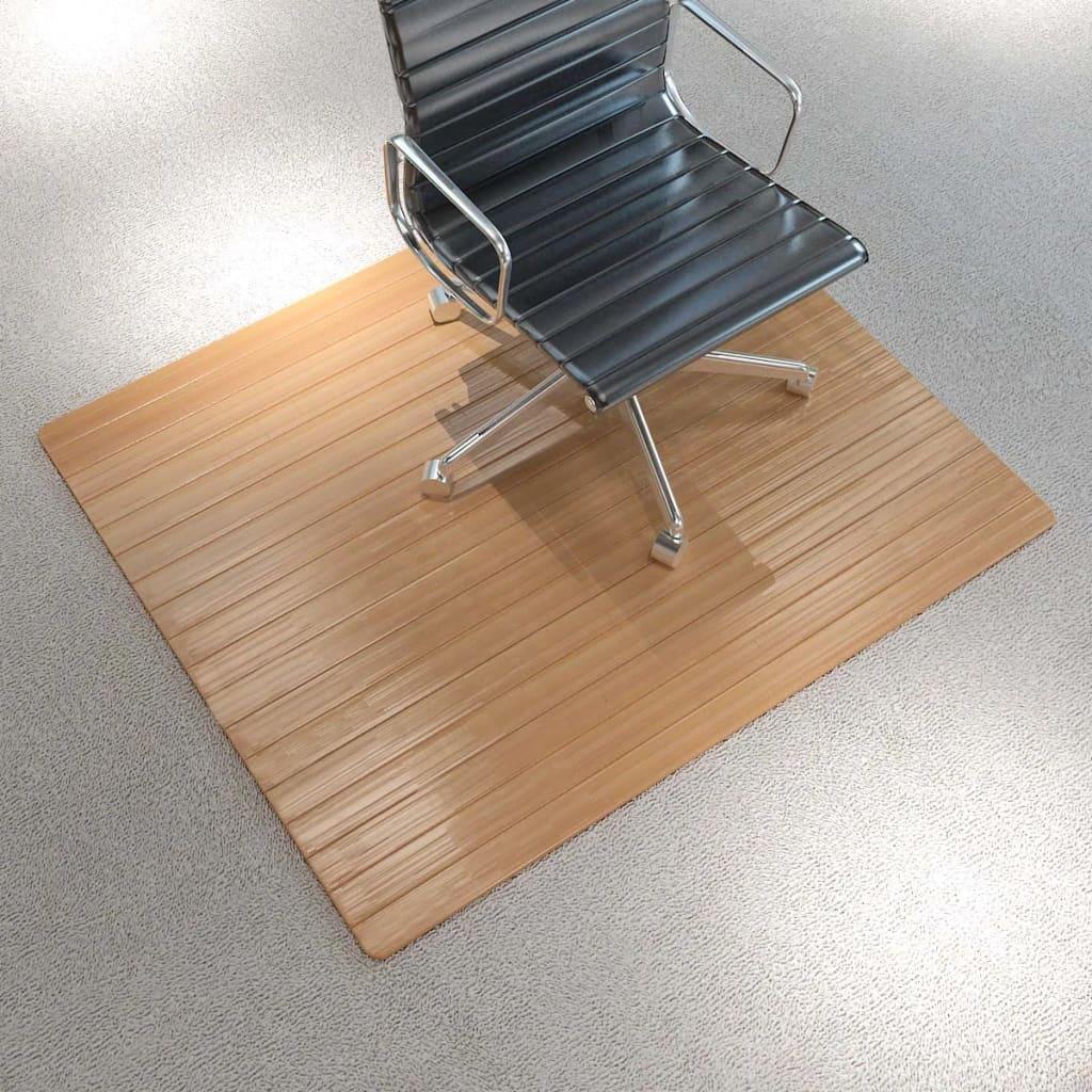 vidaXL Covor scaun/protecție podea, bambus natural, 110 x 130 cm imagine vidaxl.ro