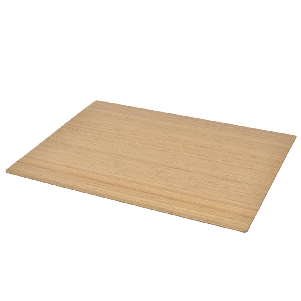 Afbeelding van vidaXL Stoelmat/Vloerbeschermende mat bamboe naturel 90 x 120 cm