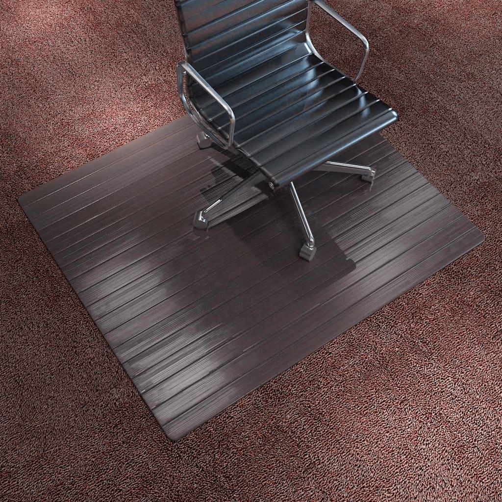 vidaXL Covor scaun/protecție podea, bambus, 110 x 130 cm, maro imagine vidaxl.ro