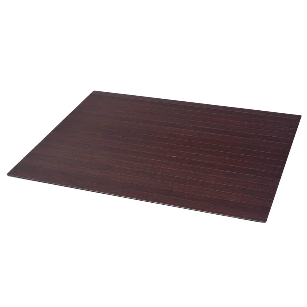 Afbeelding van vidaXL Stoelmat/vloerbeschermende mat bamboe bruin 90x120 cm