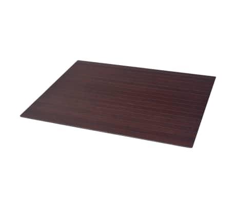 vidaxl tapis prot ge sol chaise bambou marron 90 x 120 cm. Black Bedroom Furniture Sets. Home Design Ideas