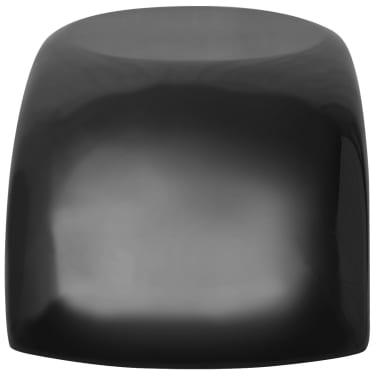 vidaXL Kavos staliukas, labai blizgus stiklo pluoštas, juodas[4/5]