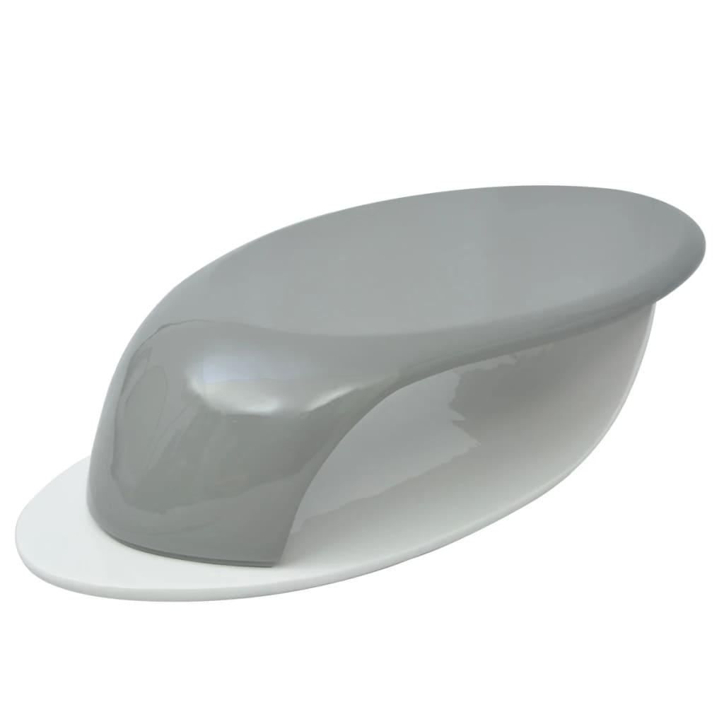 vidaXL Stolik do kawy z włókna szklanego, wysoki połysk, szaro-biały