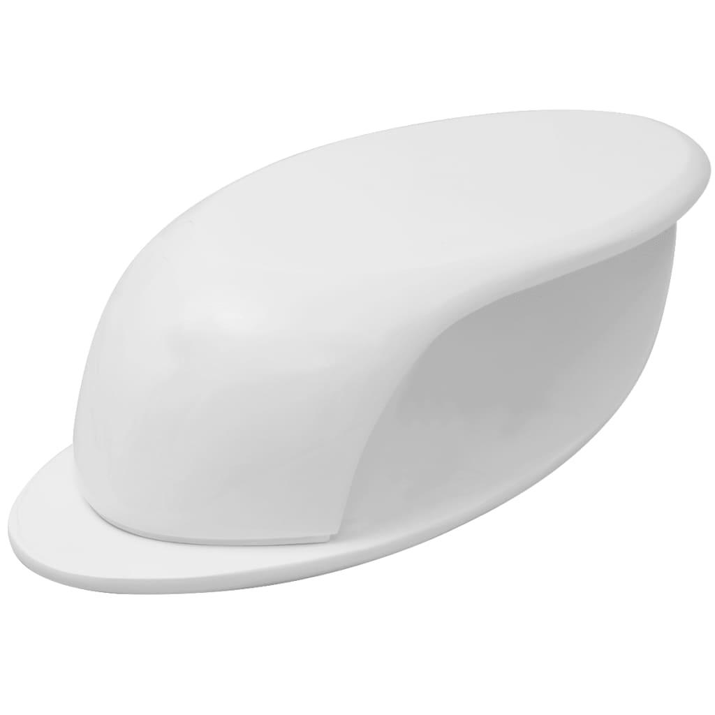 vidaXL Τραπεζάκι Σαλονιού Γυαλιστερό Λευκό Fibreglass
