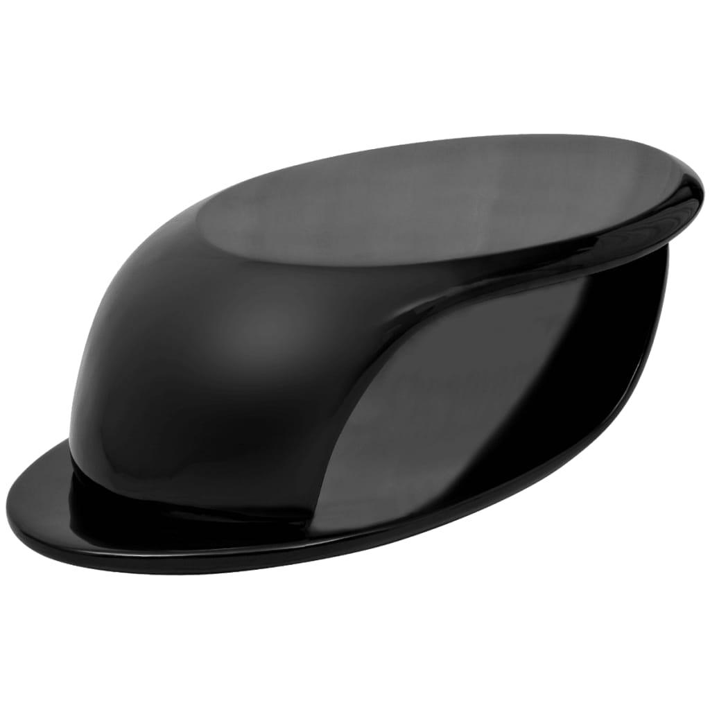 vidaXL Konferenční stolek sklolaminát s vysokým leskem černý