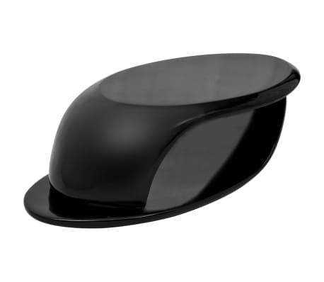 vidaXL Kavos staliukas, labai blizgus stiklo pluoštas, juodas[1/5]