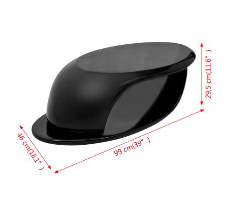 vidaXL Kavos staliukas, labai blizgus stiklo pluoštas, juodas[5/5]