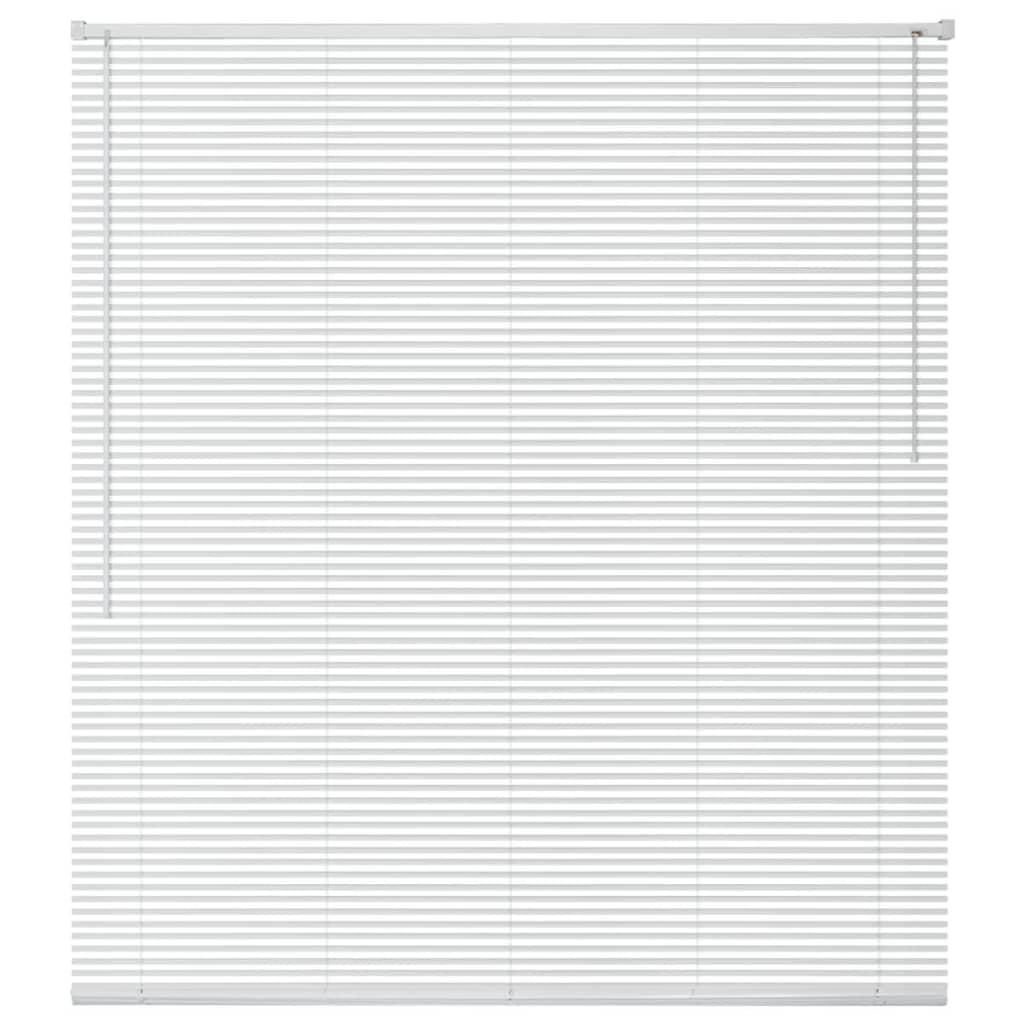 vidaXL Jaluzele pentru fereastră, aluminiu, 160 x 160 cm, alb imagine vidaxl.ro