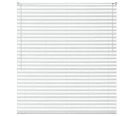 vidaXL Zonwering aluminium 160x160 cm wit