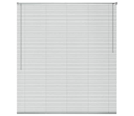 vidaXL Zonwering aluminium 140x130 cm zilverkleurig
