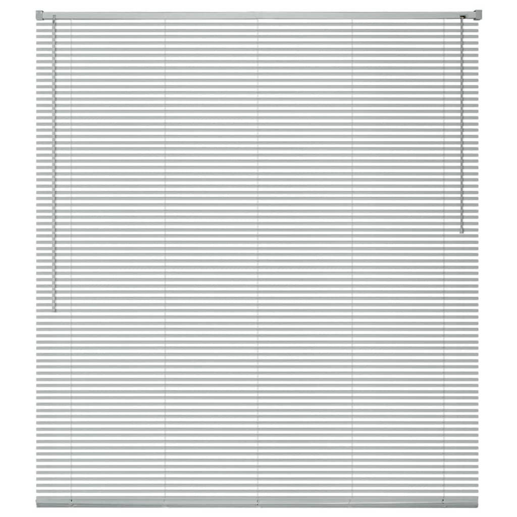 Okenní žaluzie hliník 100x160 cm stříbrná