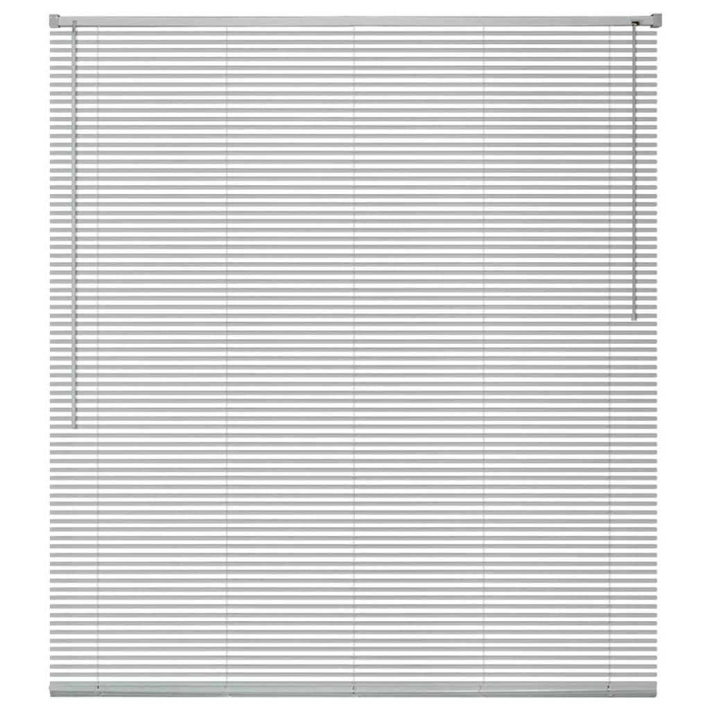 vidaXL Jaluzele de fereastră din aluminiu, argintiu 140x160 cm imagine vidaxl.ro