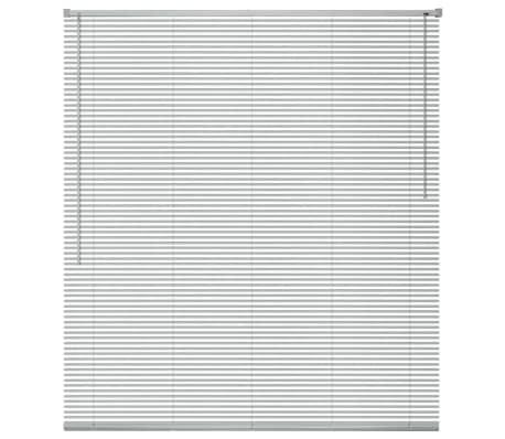 vidaXL Zonwering aluminium 140x160 cm zilverkleurig