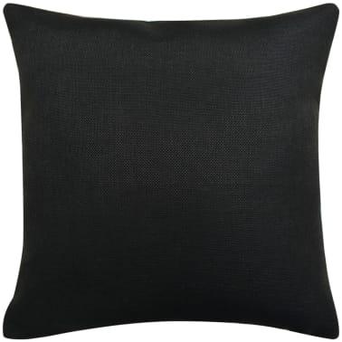 vidaXL Jastučnica 4 kom. Linen-look Crne 40x40 cm[2/3]