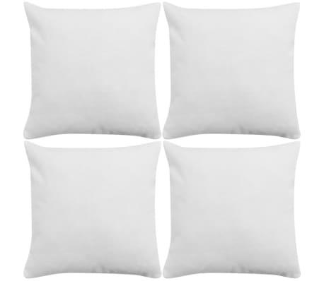 vidaXL Cushion Covers 4 pcs Linen-look White 50x50 cm