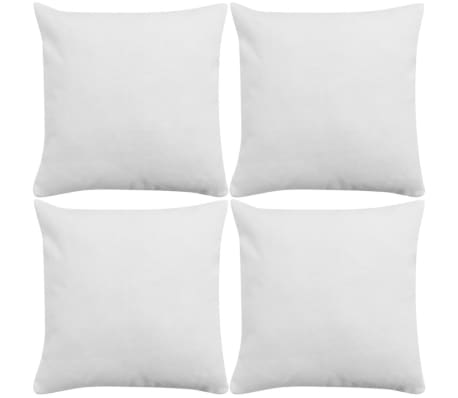 vidaXL Cushion Covers 4 pcs Linen-look White 80x80 cm