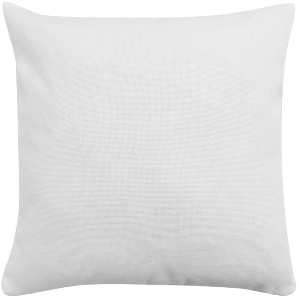 vidaXL Povlaky na polštářek 4 ks se vzhledem lnu bílé 80 x 80 cm