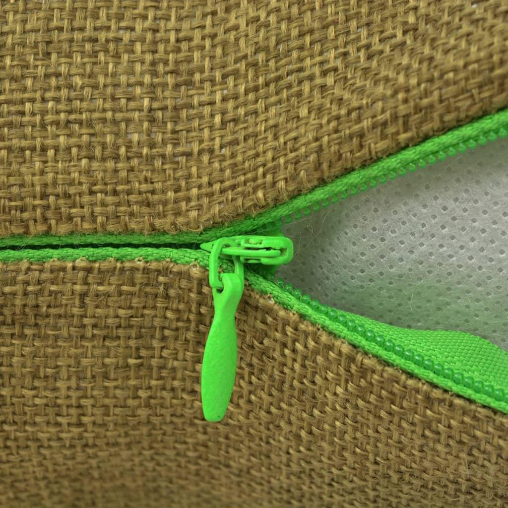 vidaXL Kussenhoezen 4 stuks linnen look groen 40x40 cm