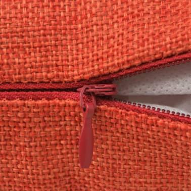 vidaxl kissenbez ge 4 stk leinenoptik terrakotta 40x40 cm g nstig kaufen. Black Bedroom Furniture Sets. Home Design Ideas