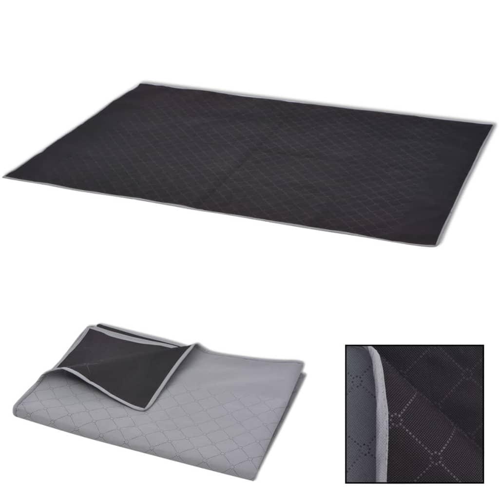 vidaXL Piknikteppe grå og svart 100x150 cm