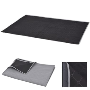vidaXL Paklotas iškyloms, pilkas ir juodas, 100 x 150 cm[1/3]