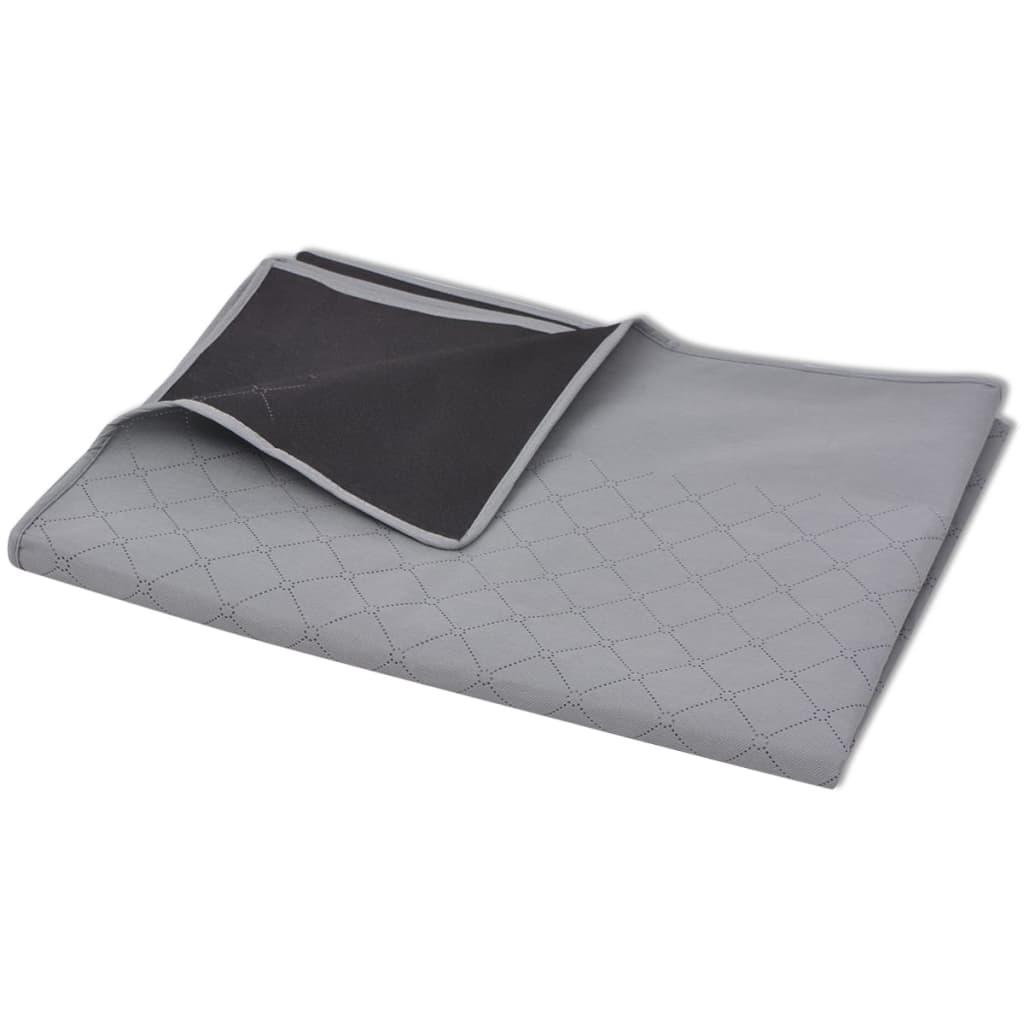 vidaXL Pikniková deka šedo-černá 100x150 cm